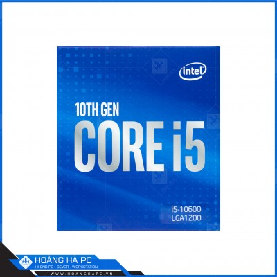 CPU Intel Core i5-10600 (3.30GHz Turbo Up To 4.80GHz, 6 Nhân 12 Luồng,12MB Cache, Comet Lake-S)