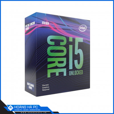 CPU Intel Core i5-9600KF (3.7GHz Turbo Up To 4.6GHz, 6 nhân 6 luồng, 9MB Cache, Coffee Lake)