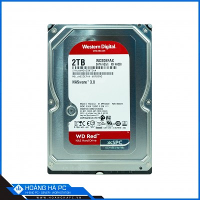 Ổ cứng HDD Western Red 2TB (3.5 inch 5400rpm, SATA3 6Gb/s, 64MB Cache)