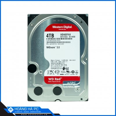 Ổ Cứng HDD Western Red 4TB (3.5 inch 5400rpm, SATA3 6Gb/s, 64MB Cache)