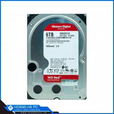 Ổ Cứng HDD Western Red 6TB (3.5 inch 5400rpm, SATA3 6Gb/s, 64MB Cache)