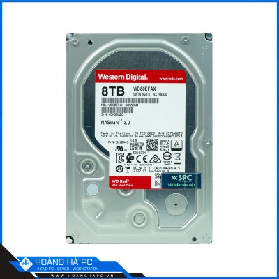 Ổ Cứng HDD Western Red 8TB (3.5 inch 5400rpm, SATA3 6Gb/s, 128MB Cache)