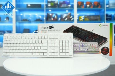 Keyboard Irocks K76M White Mechanical Brown Switch Irock