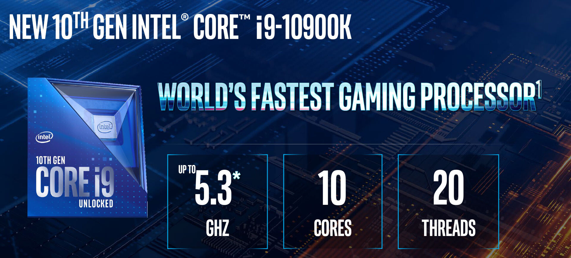 CPU Intel Core i9-10900K (3.70 GHz up to 5.30 GHz / 10C 20T / 20M Cache, Comet Lake-S)