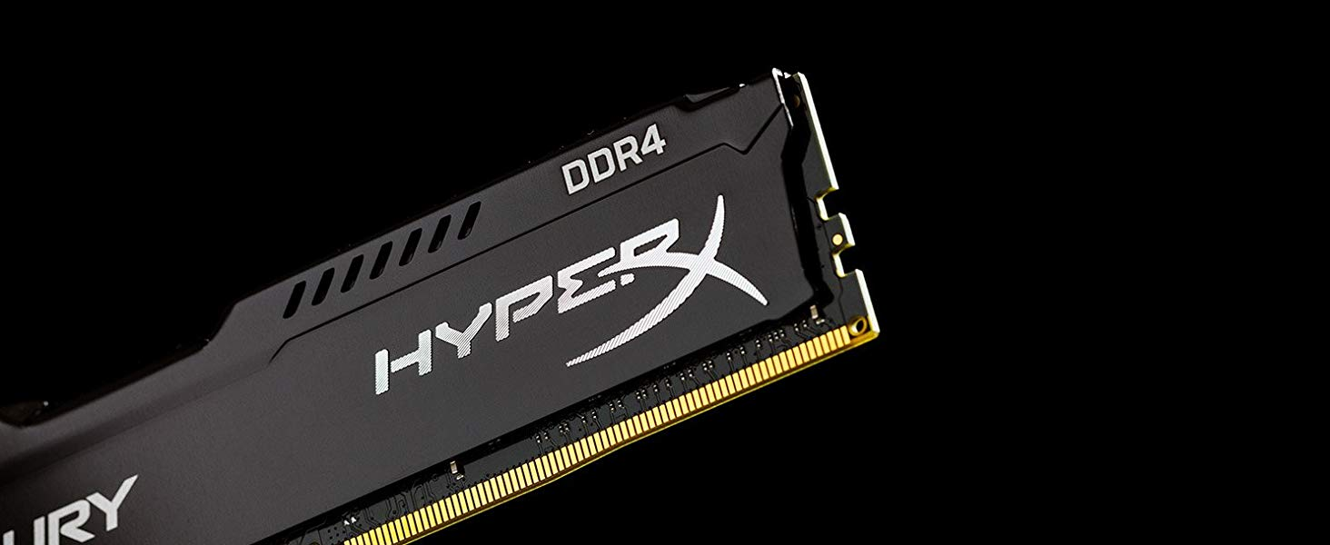 Bộ nhớ RAM DDR4 Kingston HyperX Fury Black 8GB/2666