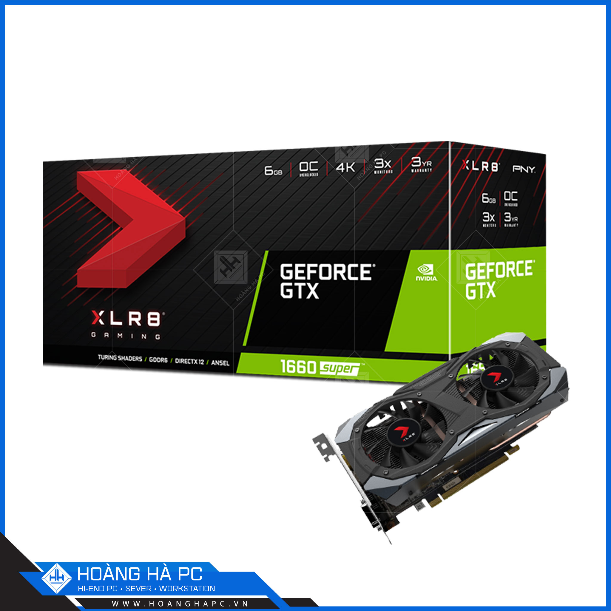 PNY GeForce GTX 1660 SUPER XLR8 Gaming Overclocked Edition