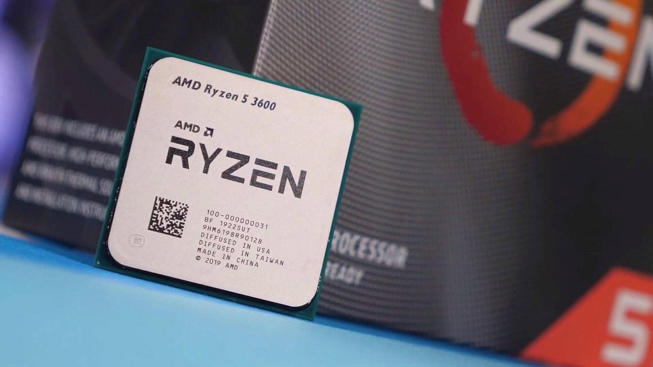 CPU AMD RYZEN 5 3600 (3.6 - 4.2Ghz / 6 core 12 thread / socket AM4)