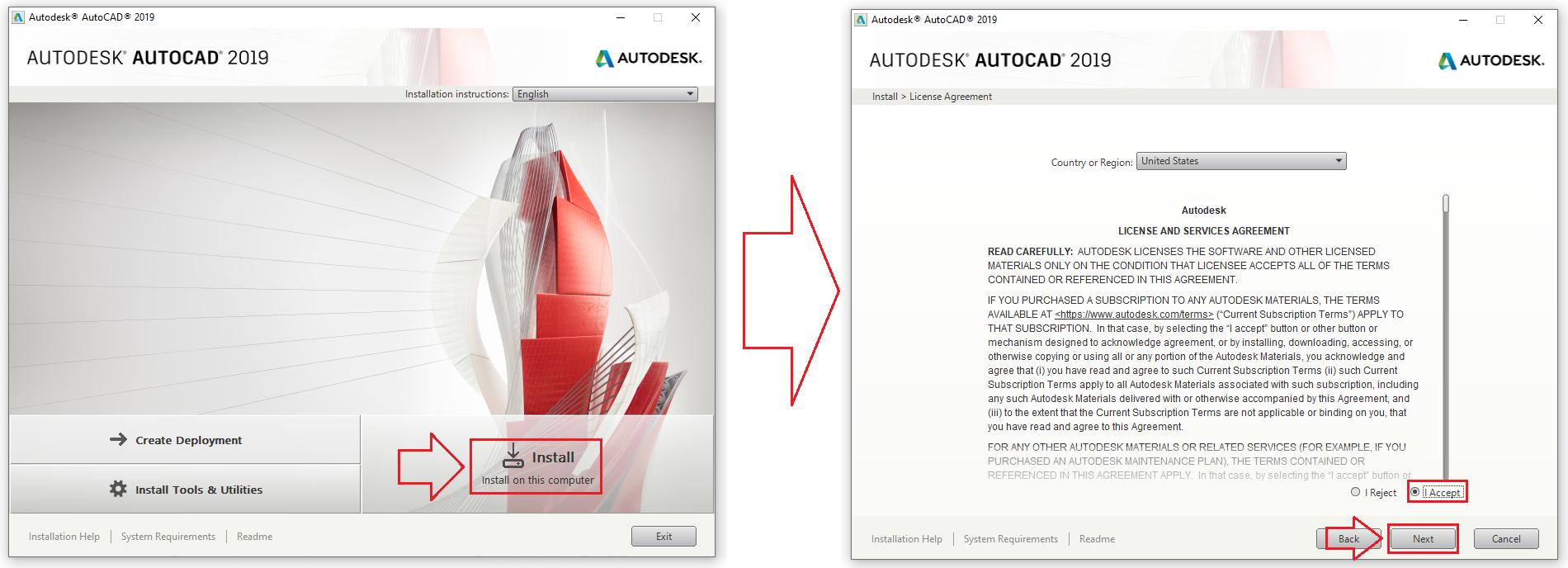 Download Autodesk AutoCAD 2019 Link Google Drive + Hướng dẫn cài đặt chi tiết