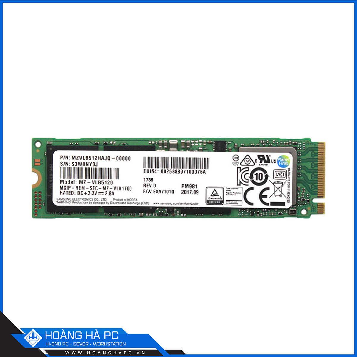 SSD Samsung PM981 512GB