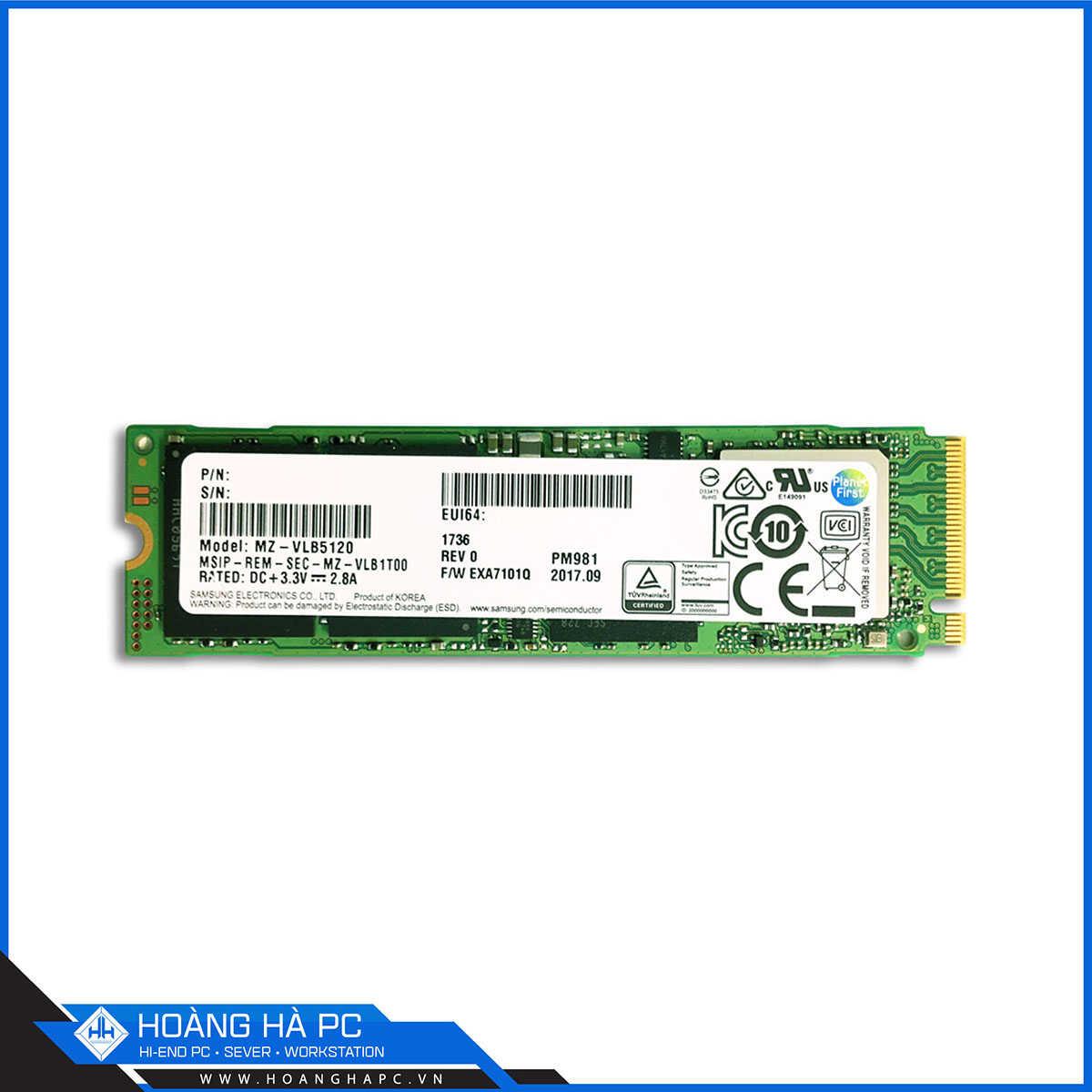 SSD Samsung PM981A 256GB
