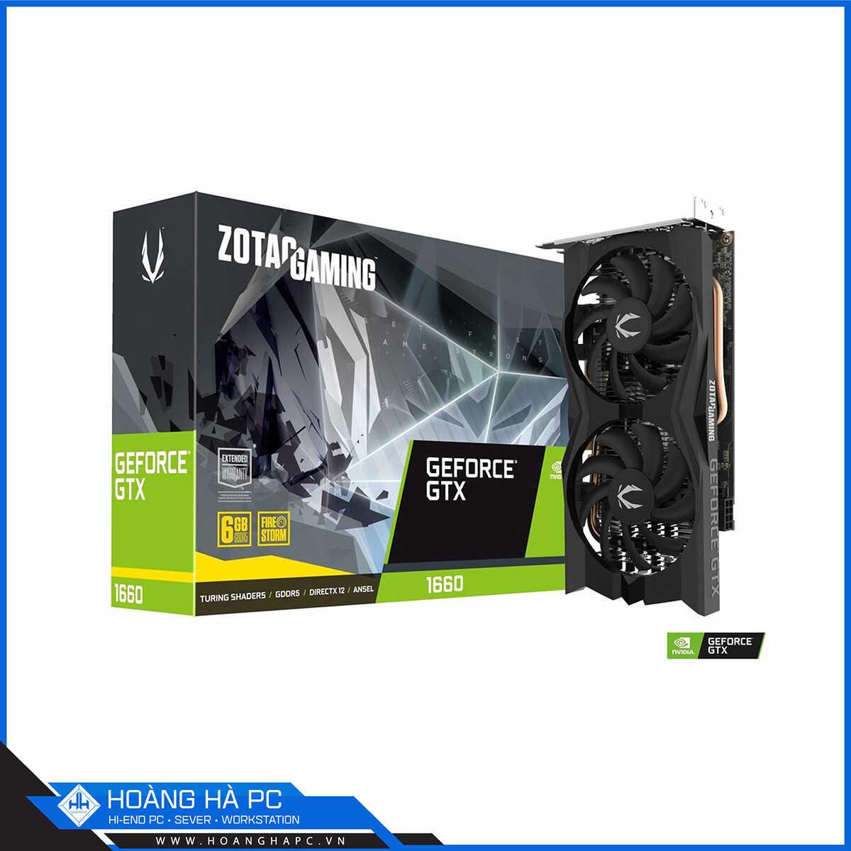 VGA Zotac Gaming GeForce GTX 1660 Twin Fan
