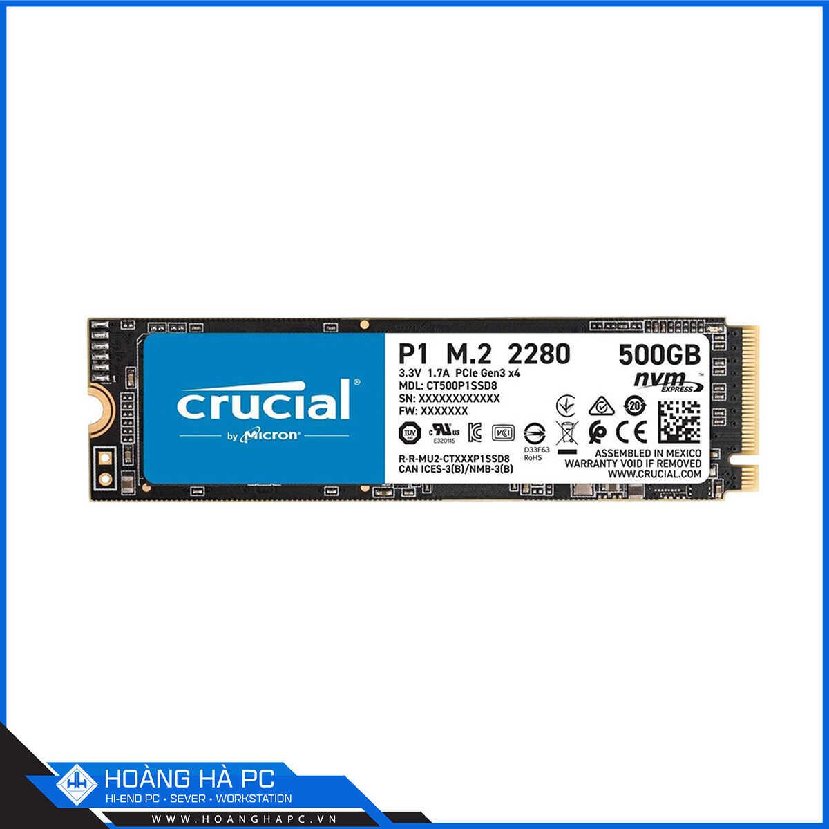 Ổ cứng SSD Crucial P1 500GB