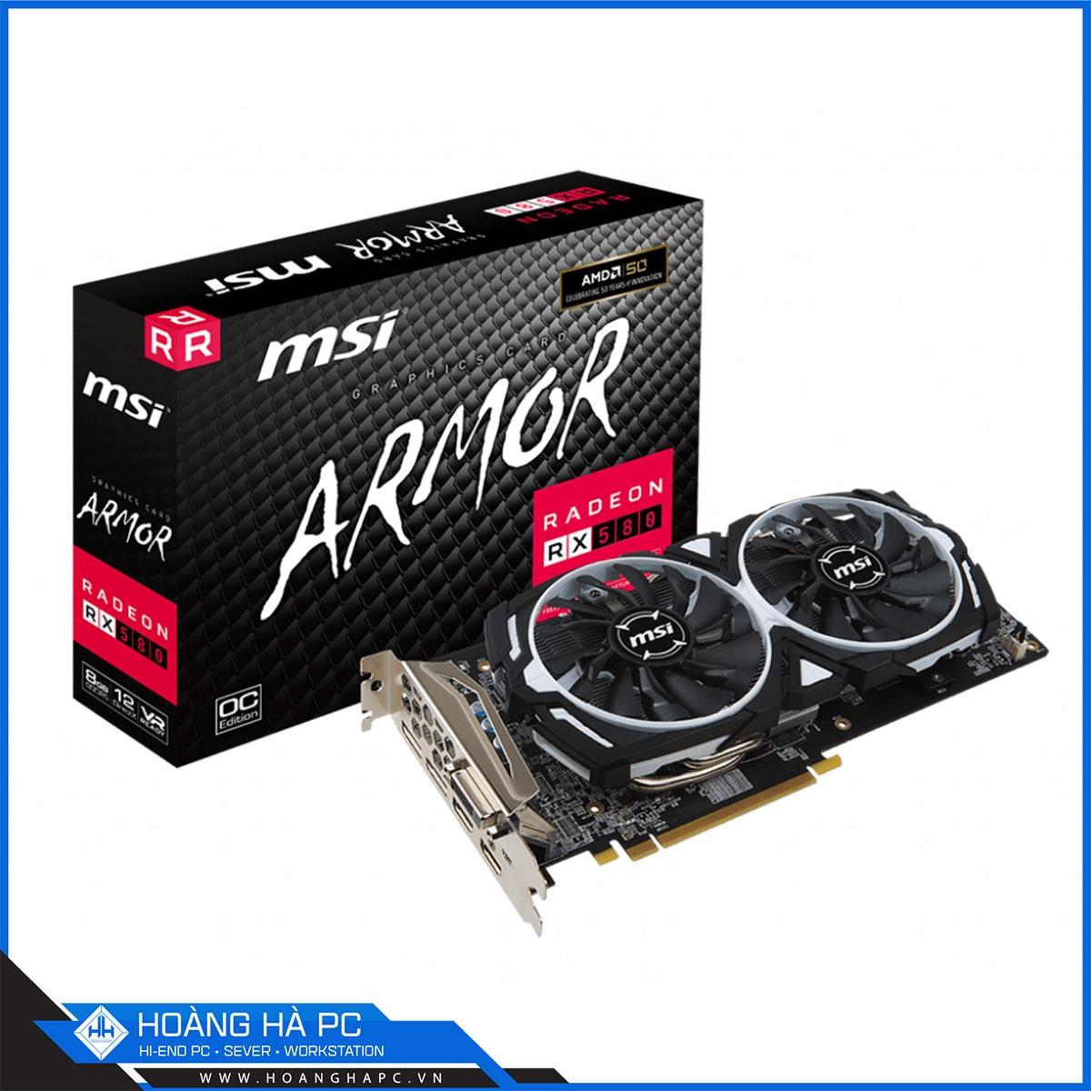 MSI Radeon RX 580 ARMOR 8G O