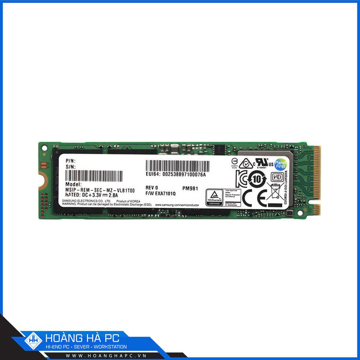 SSD Samsung PM981 2TB