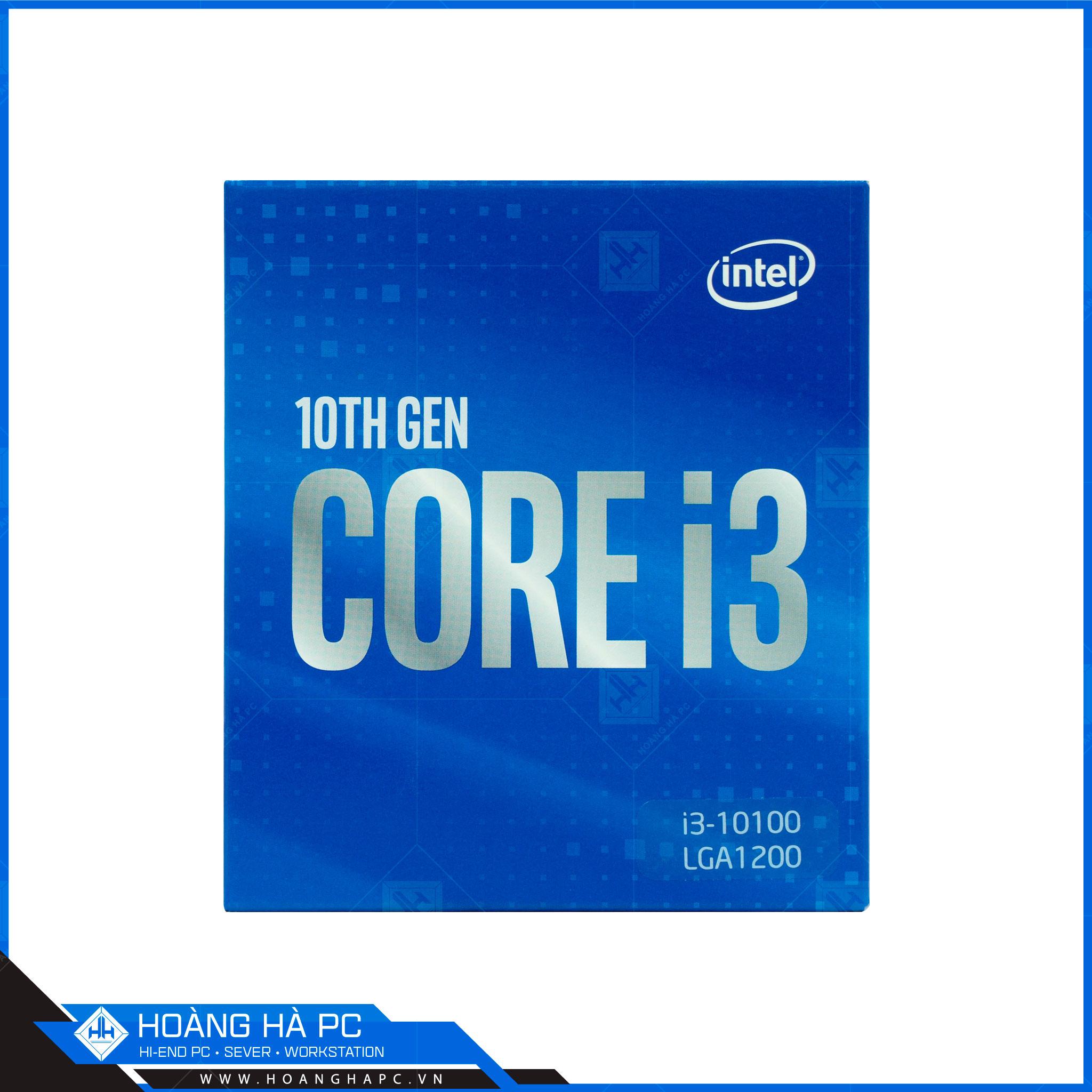 CPU intel core i3 10100 tại Hoàng Hà PC