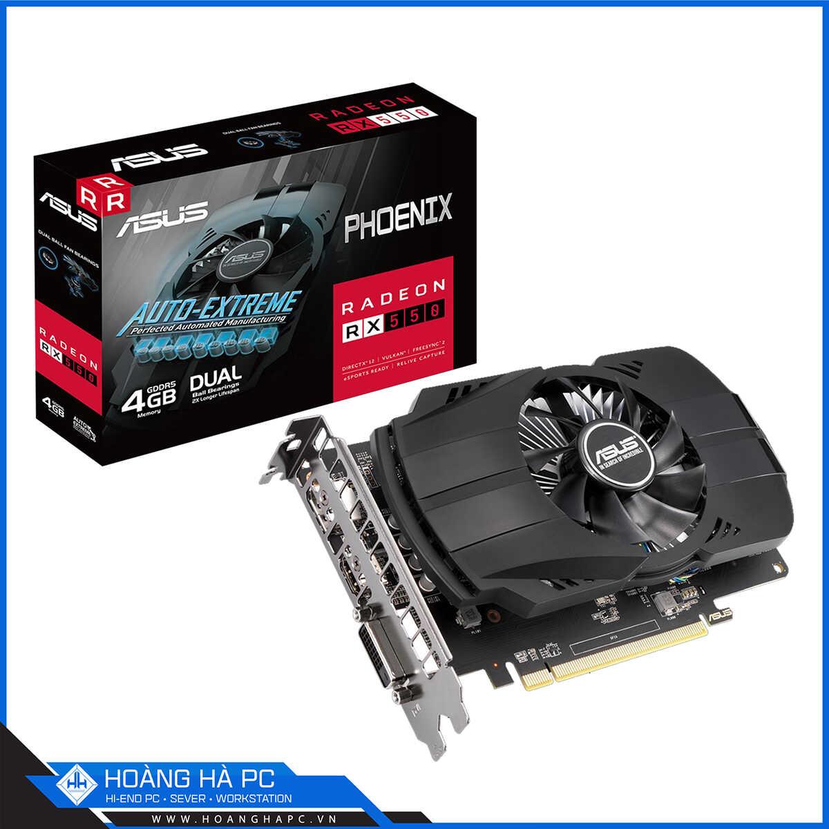 Card màn hình VGA ASUS PH-RX550-4G-EVO