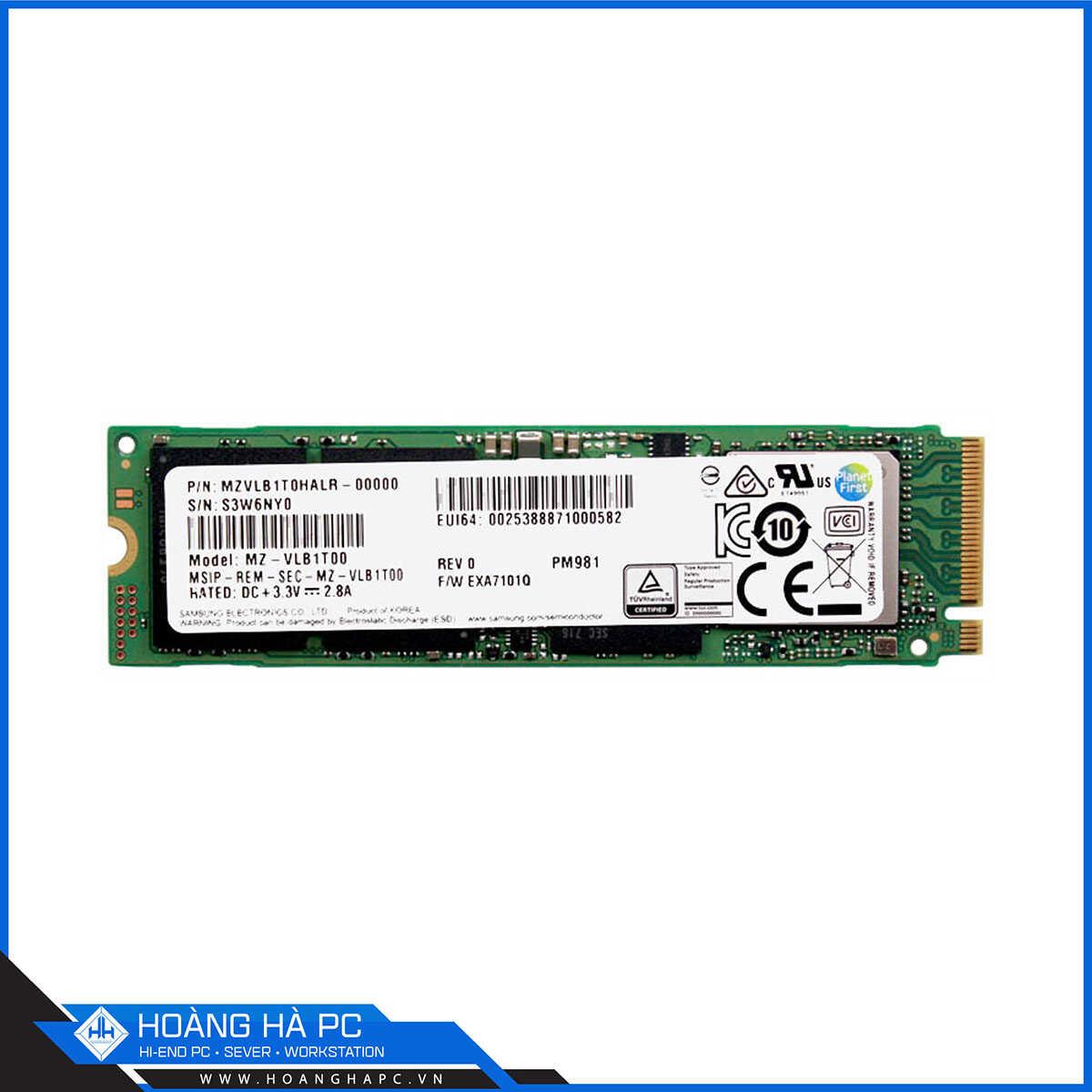 SSD Samsung PM981 1TB M.2 PCIe NVMe Gen 3x4