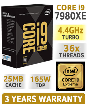 Intel Core i9 7980XE EXTREME EDITION (2.6 GHz Turbo up to 4.2 GHz)