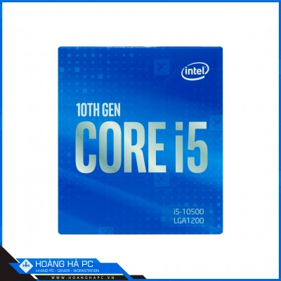 CPU Intel Core i5-10500 (3.10GHz Turbo Up To 4.50GHz, 6 Nhân 12 Luồng, 12MB Cache, Comet Lake-S)