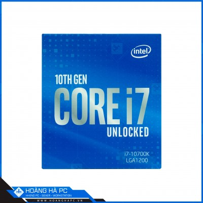 CPU Intel Core i7-10700K (3.80GHz Turbo Up To 5.10GHz, 8 Nhân 16 Luồng, 16MB Cache, Comet Lake-S)