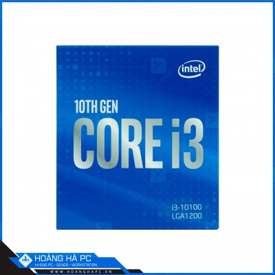CPU Intel Core i3 10100 (3.6GHz turbo up to 4.3GHz, 4 nhân 8 luồng, 6MB Cache)