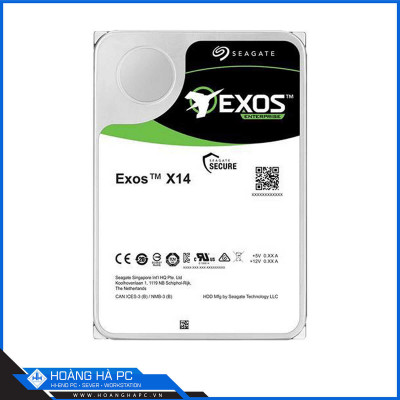 Ổ cứng HDD Seagate Exos X14 12TB (3.5 inch, Sata 6Gb/s, 256MB Cache, 7200rpm)