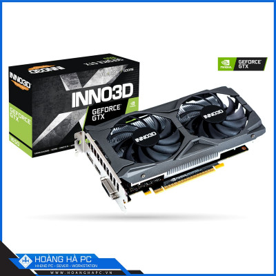 VGA Inno3d Geforce GTX 1650 Twin X2 OC V2 (4GB GDDR6, 192-bit, HDMI +DP)