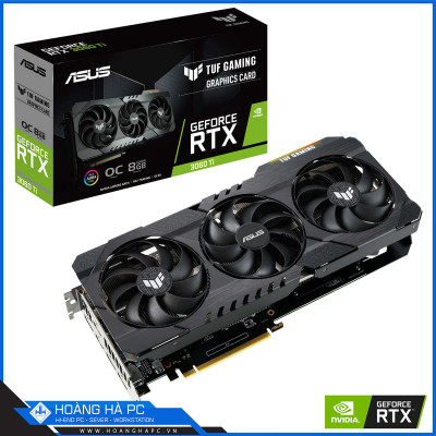 VGA ASUS TUF RTX 3060 Ti OC 8GB GAMING (8GB GDDR6, 256-bit, HDMI +DP, 1x8-pin)