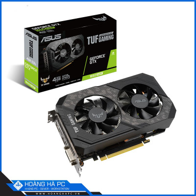 VGA Asus TUF GTX 1650 Super 4G Gaming (4GB GDDR6, 128-bit, DVI+HDMI+DP, 1x6-pin)