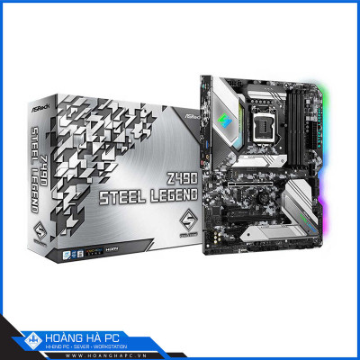 Mainboard ASROCK Z490 STEEL LEGEND (Intel Z490, Socket 1200, ATX, 4 khe Ram DDR4)