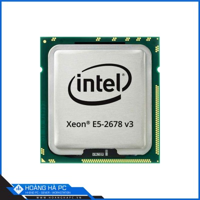 CPU Intel Xeon E5 2678-v3 (2.5GHz Turbo Up To 3.3GHz, 12 nhân 24 luồng, 30MB Cache, LGA 2011-3)
