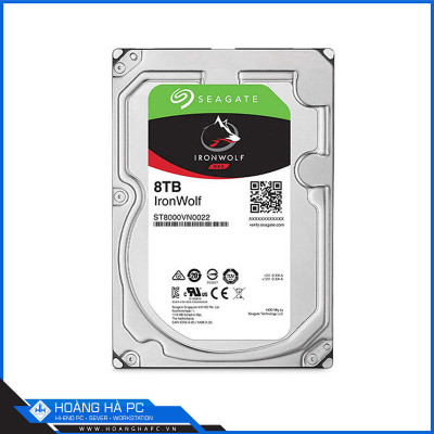 Ổ Cứng HDD Seagate Ironwolf 8TB (3.5 inch, Sata3 6Gb/s, 256MB Cache, 7200rpm)