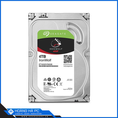 Ổ cứng HDD Seagate Ironwolf 4TB (3.5 icnh, Sata3 6Gb/s, 64MB Cache, 5900rpm)
