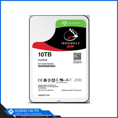 Ổ cứng HDD Seagate Ironwolf 10TB (3.5 icnh, Sata3 6Gb/s, 256MB Cache, 7200rpm)