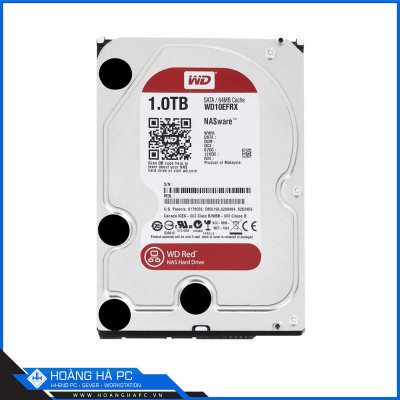 Ổ cứng HDD Western Digital Red 1TB (3.5 inch, Sata3 6Gb/s, 64MB Cache, 5400rpm)