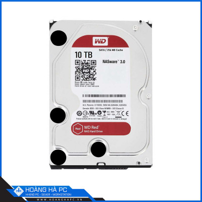 Ổ cứng HDD Western Red 10TB (3.5 inch, SATA3 6Gb/s, 256MB Cache, 5400rpm)