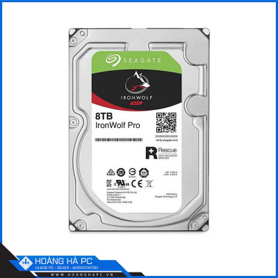 Ổ Cứng HDD Seagate Ironwolf Pro 8TB (3.5 inch, SATA3 6Gb/s, 256MB Cache, 7200rpm)