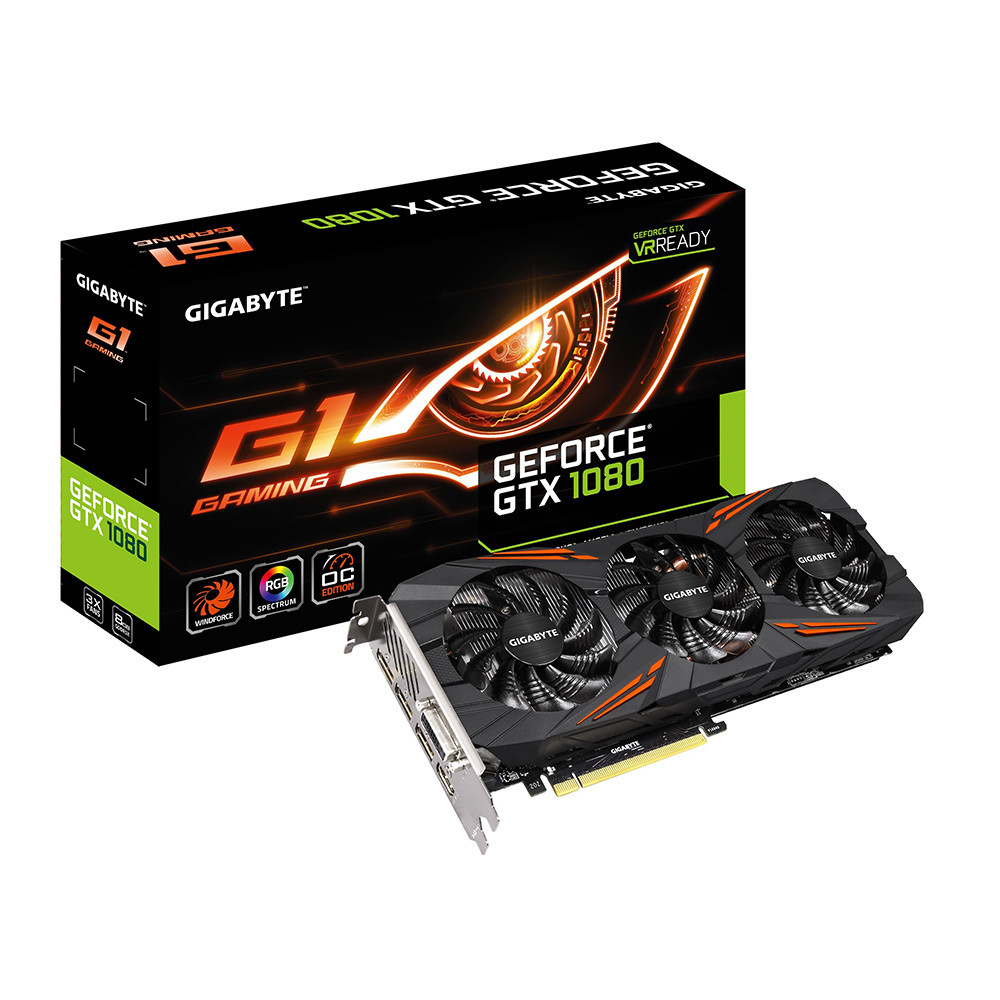 VGA GIGABYTE GeForce GTX 1080 G1 Gaming (N1080G1 GAMING-8GD)