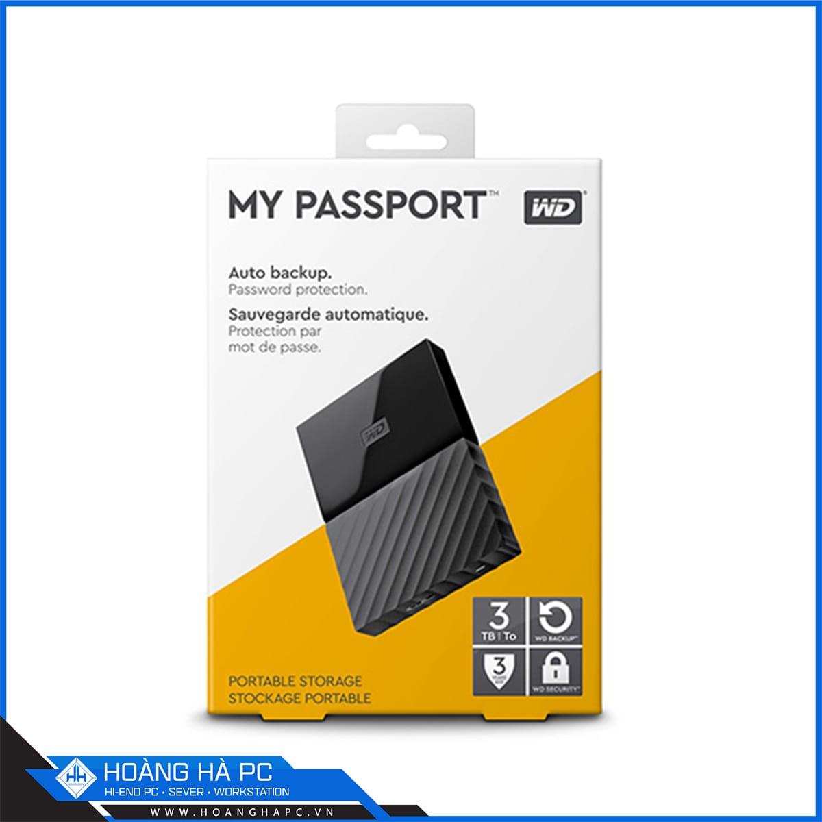 Ổ cứng di động WD My Passport 3TB
